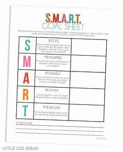 2017 lds goal planner booklet from little lds ideas With smart goals and objectives checklist