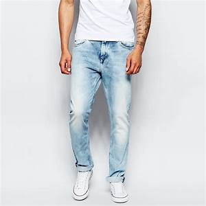 Mens Light Blue Faded Skinny Jeans - All The Best Jeans In ...