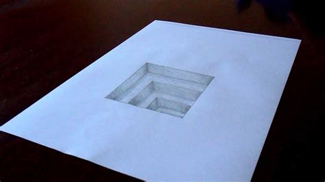 original amazing  hole  paper drawing timelapse