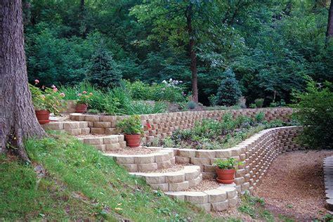 keystone garden wall landscape retaining wall block