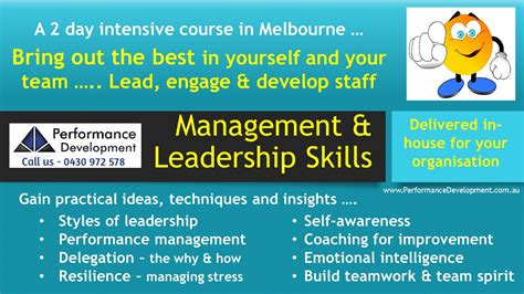leadership training melbourne leadership skills
