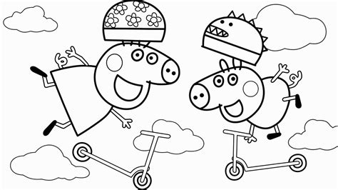 Peppa Pig & George Pig Coloring Pages & Learn Colors For