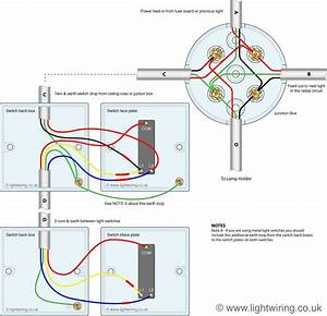 1 Way Lighting Wiring Diagram