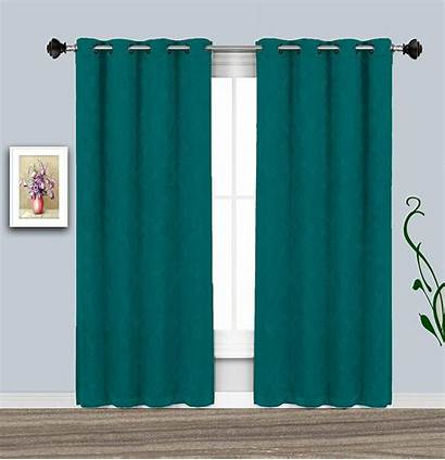 Teal Curtains Grommet Cheap Panel Warm Window