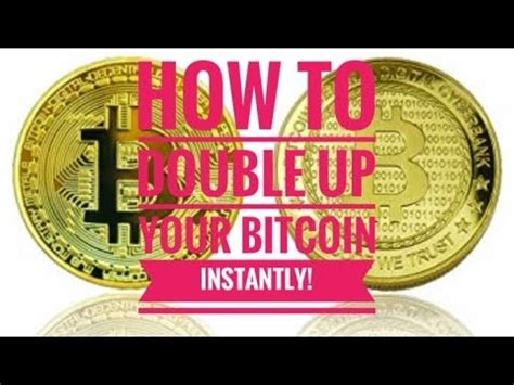 How to double your bitcoin using bitcoindoubler2x.com? How to Double your bitcoin instantly - YouTube