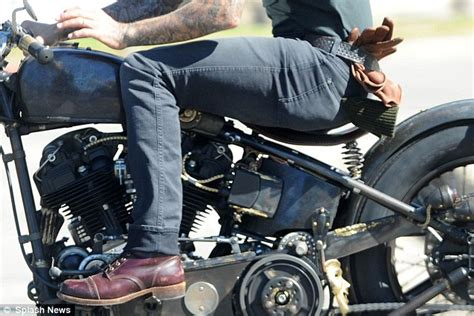 brown biker style easy rider david beckham is the ultimate multi tasker as