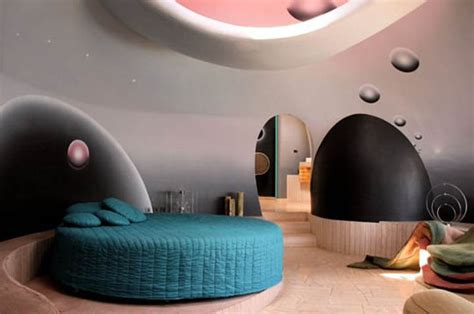 chambre bulles cardin s house palais bulles by antti