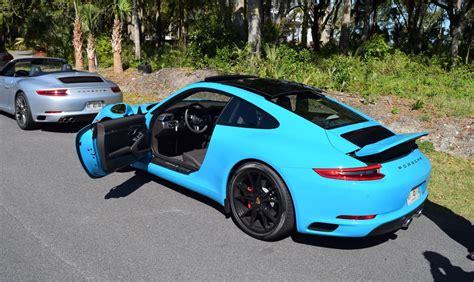 miami blue porsche turbo s 2017 porsche 911 carrera s first drive in miami blue