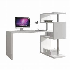 Bureau Avec étagère : soldes bureau bureau tag re blanc comforium ~ Preciouscoupons.com Idées de Décoration