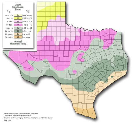 Texas Hardiness Zones