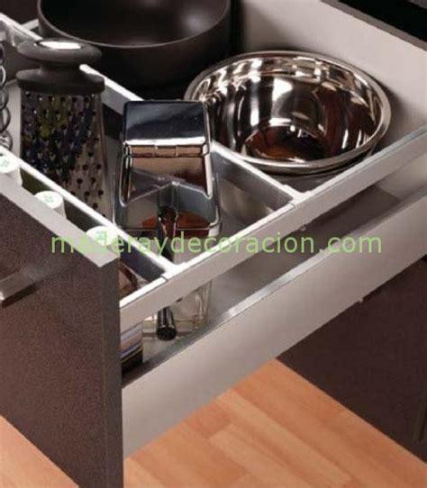 cajones  gavetas  muebles de cocina