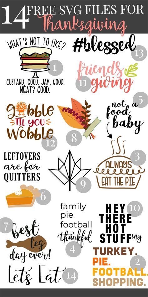 You could make a sweet home decor sign, a kitchen towel for the holiday or shirts for the family. Free SVG File- #Blessed + Thanksgiving SVG Blog Hop ...