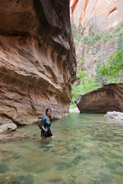 Hiking Narrows Zion National Park