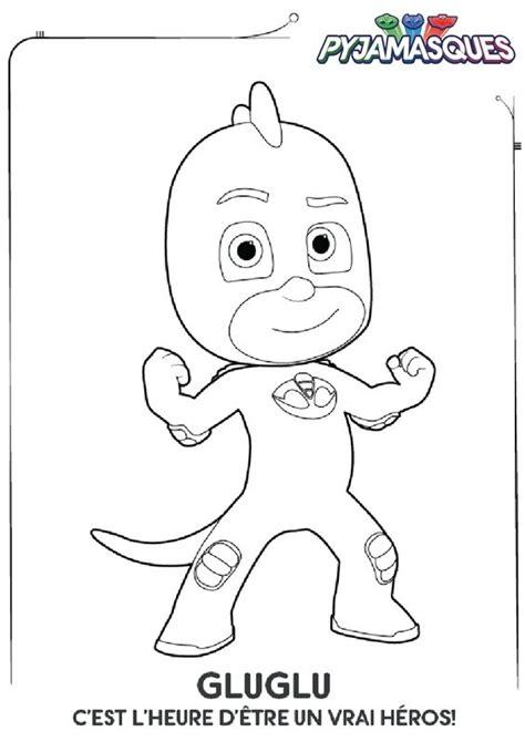 dessiner sa cuisine en ligne gratuit coloriage les pyjamasques gluglu héros et