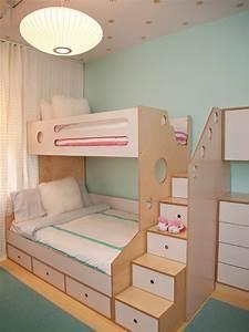 Lit Superposé Escalier : la chambre d 39 enfant id es pour l 39 am nager et la d corer ~ Premium-room.com Idées de Décoration
