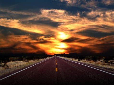 long road   sunset  sol sense yoga  athea