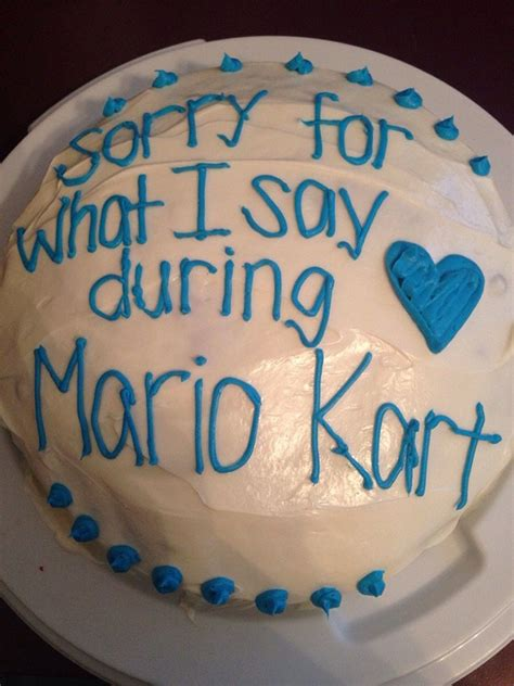 funniest apology cakes   history  cakes