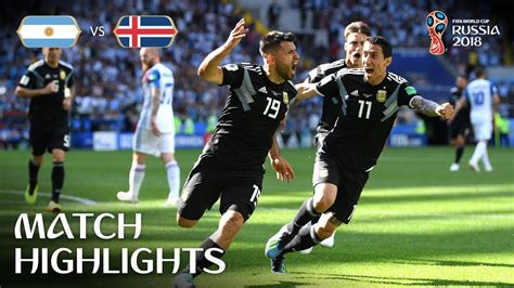 Argentina Iceland Fifa World Cup Russia Match