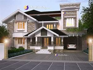 3820 Sq ft Kerala Home design based Western design villa