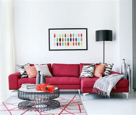 vibrant trend  colorful sofas  rejuvenate  living