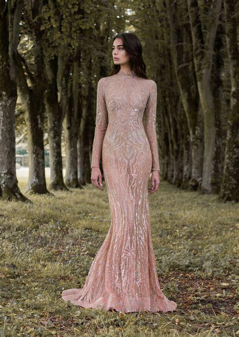 rose gold gossamer wing inspired long sleeved wedding