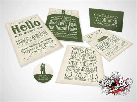Princess Bride Wedding Invites From Bang Boom Pow Design