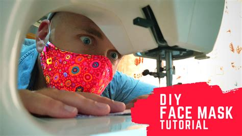 quick diy fabric face mask tutorial  pattern nick vt