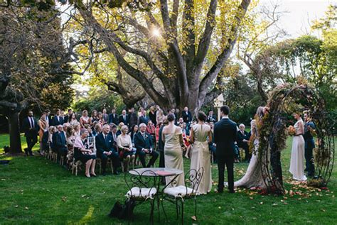 outdoor fall wedding once wed