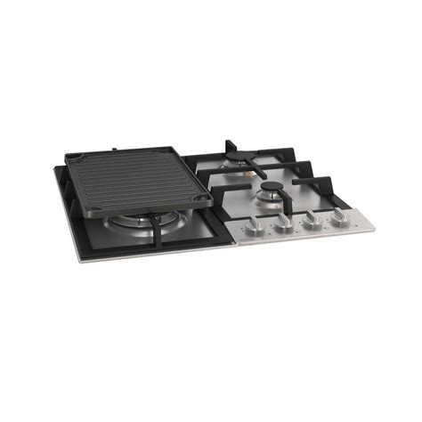 cast iron glass cooktop ancona 24 in gas cooktop in stainless steel including