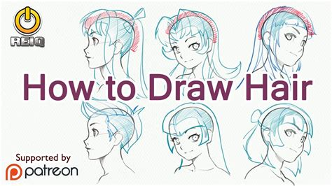 draw anime hair  construction  styles