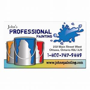 Professional painting business card zazzle for Business cards for painters