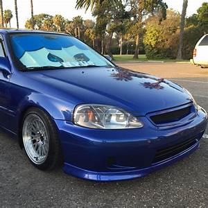 1999 Honda Civic : gunmetal 1999 2000 honda civic 2 3 4dr jdm style headlights head lamps pair ebay ~ Medecine-chirurgie-esthetiques.com Avis de Voitures