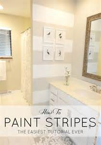 Painting Ideas For Bathroom Walls Livelovediy How To Paint Stripes The Easiest Tutorial