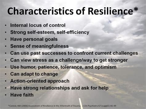 characteristics  resilience stepping stones