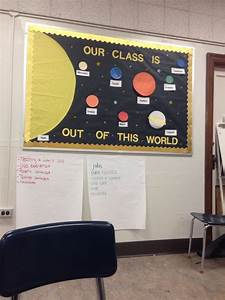 Solar system bulletin board | Bulletin & door ideas ...