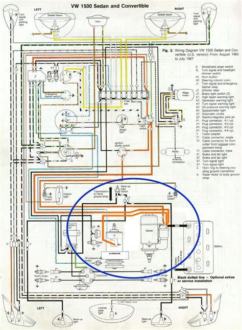 thesamba view topic new alternator installation and wiring