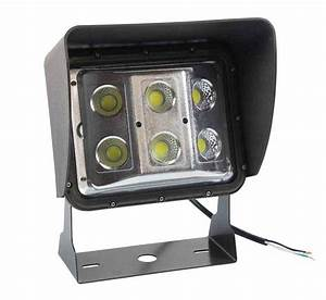 Watt low profile led wall pack light with glare shield