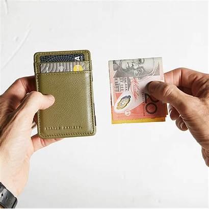 Flip Khaki Tan Leather Wallet Anxiety Status
