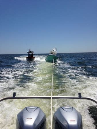 Tow Boat Us Oregon Inlet by Coast Guard Samaritan Rescue 2 From Capsized Boat