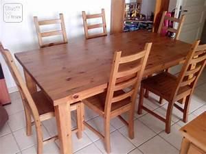 Table Chaise Ikea : table pin massif ikea forsby 6 chaises l guevin 31490 ~ Teatrodelosmanantiales.com Idées de Décoration