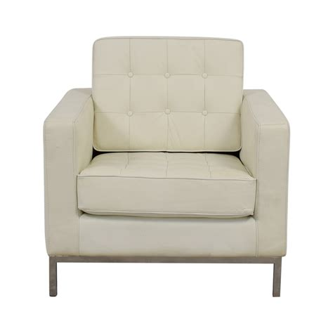 white leather sofa and chair off white leather club chair chairs seating