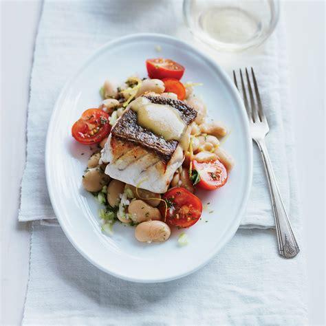 grouper salad butter bean roasted pan tomato recipes recipe court chris fish wine foodandwine food xl