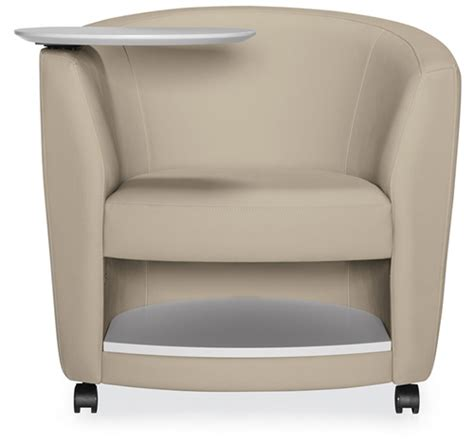 global sirena mobile lounge chair with tablet arm and