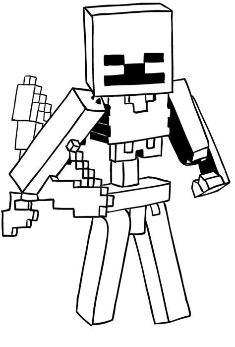 disegni da colorare minecraft scp disegno di scheletro di minecraft da colorare