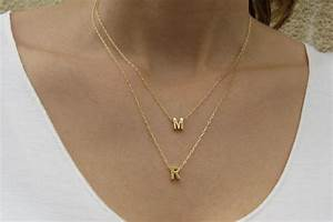 goldfilled initial necklace gold letter necklace gold With letter chain necklace