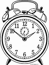 Clock Coloring Alarm Pages Wecoloringpage sketch template