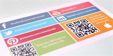 social media business card business wire