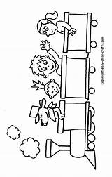 Coloring Pages Train Trains Caboose Children Clipart Drawings Engine Easy Crafts Preschool Clip Printable Colouring Print Winter Child Printables Cliparts sketch template