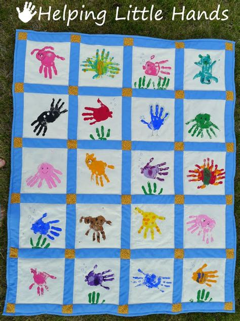 pieces  polly hand print animals quilt