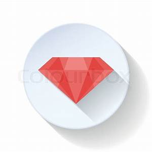 Ruby flat icon design vector graphic illustration | Stock ...
